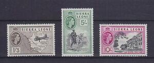 SIERRA LEONE 1956, SHILLING VALUES, SG 218, 220, 221, MNH, VF