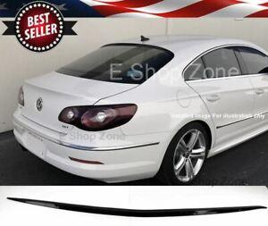 Flexible Semi Gloss Black Rear Window Roof Spoiler Wing Diffuser For 08-16 VW CC