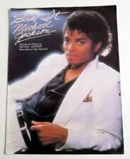 Partition vintage sheet music MICHAEL JACKSON : Beat It * 80's Guitar Piano