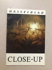 Vintage HASSELBLAD CLOSE-UP PHOTOGRAPHY BROCHURE maybe 1960 Camera