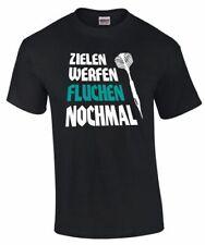 Dart Shirt T-Shirt Darten ZIELEN FLUCHEN WERFEN NOCHMAL Spruch lustig Geschenk