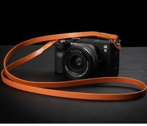 115cm Real Leather Camera Strap Belt For Canon Nikon Sony Fujifilm Leica Samsung