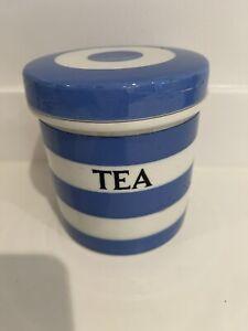 T G Green kitchen Cornishware early 11cm Tea Caddy Black Shield