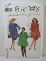 Simplicity Maternity Pattern 8757 Size 12 Top Pull-on Pants Skirt Vintage 1998