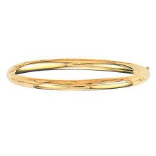 10k Yellow Gold Shiny Bangle  Hinged Bracelet 5mm 3/16 4 grams 7 Inch 316XS