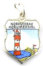 Bettelarmband Anhänger Wappen ♥ HORUMERSIEL NORDSEEBAD ♥Souvenir antik Charm 839