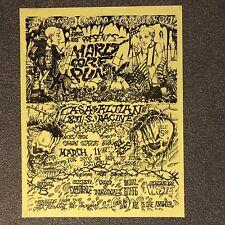 Original 1988 Chicago Hardcore Punk Flyer Crudos Bhopal Stiffs Screeching Weasel