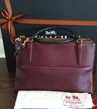RARE COACH Oxblood/blk Borough bag satchel purse handbag 28160 shoulder carryall