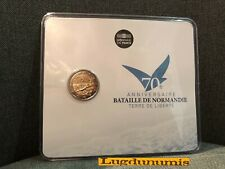 France 2014 Blister 2 euro Bataille Normandie D Day FDC BU 10000 Exemplaires