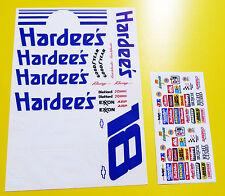 RC Nascar 'Days Of Thunder' HARDEE'S Decals Stickers Tamiya Xray TC5 S18 Kyosho