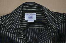 TM Lewin black & yellow cotton shirt size 15 1/2 single cuff Jermyn Street 15.5
