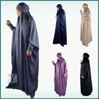 Premium Overhead Jilbab Zip Nida Dubai Hijab Abaya Khimar Prayer dress Niqab