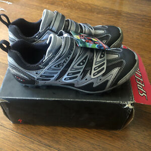 NOS SPECIALIZED Comp Mountain Shoes • Size 40EU, 7.5US, 25.5cm • Silver/Black