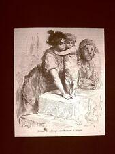 Incisione di Gustave Dorè del 1874 Abitanti di Macarena Siviglia Spagna