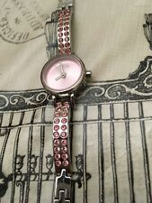 DKNY Ladies Pink Dial With Pink Diamanté Watch