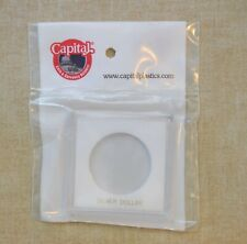 KROWN CAPITAL PLASTIC HOLDER FOR SILVER DOLLARS - 2.5 x 2.5 - NO COINS - WHITE