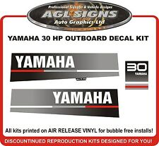 1989 1990 1991 Yamaha 30 HP Outboard Decal Kit  reproductions  25 hp also