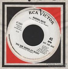 1967 Marsha Maye Northern Soul DJ M- 45 (Sun Shines at Night)