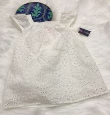 NWT Cherokee Target Baby Girl 18 Month 18M White Pom Pom Dress Easter Photos
