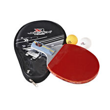 Short Handle Ping Pong Table Tennis Racket Paddle Bat Pen-hold Grip +Bag + Balls