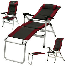Art.30003 YACCU ALU Campingstuhl Hochlehner Relaxliege Camping Stuhl Beinablage