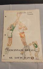 VINTAGE BASKETBALL MAGAZINE CONNERSVILLE IND 1960S Oscar robertson Rare