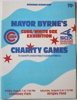 Rare 1981 Chicago Cubs vs. White Sox Exhibition Program Baines Durham Hoyt