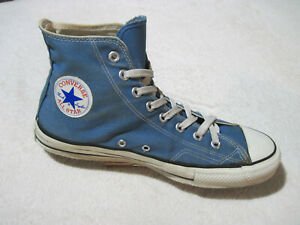 CONVERSE CHUCK TAYLOR BLUE CANVAS HIGH TOP VINTAGE MADE IN USA MENS 10 1/2