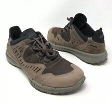 Ecco Mens Brown Nubuck Hiking Trail Shoes Size 42 EU 9 US