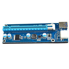 USB3.0 1x to 16x Extender Riser Card Adapter SATA Power Cable PCI-E Express HOT