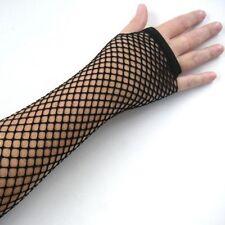 Hot Fingerless Costume Disco Dance Fishnet Lace Gloves Mesh