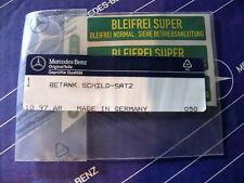 Original Mercedes Aufkleber-Set BLEIFREI SUPER für W107 W114 W116 W123 W124 W126