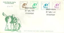 GRONINGEN (NETHERLANDS) LOCAL POST FIRST DAY COVER 1970 EQUESTRIAN