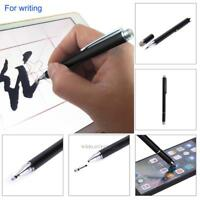 2 In 1 Touch Screen Capacitive Pen Thin Disc Tip Stylus For iPhone iPad Table PC