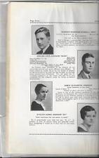 1932 NAUGATUCK HIGH SCHOOL YEARBOOK, NAUGATUCK CONN (AS IS, NO COVER)
