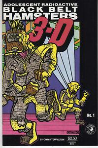 Adolescent Radioactive Black Belt Hamsters 3D 1 1986 Eclipse Comics USA $2.50