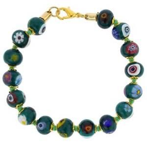 GlassOfVenice Murano Glass Mosaic Bracelet - Green