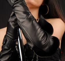 NEU! Schwarz Leder Super Lang Opera Handschuhe NEU!