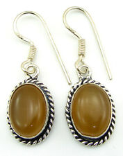 925 Silver Plated Light Brown Gemstone Earrings Danglers Fashion Jewelry - 1515