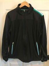 BMW Women's Golf Sport Size XL Full Zip Black Fleece Golfing Athletic Jacket EUC