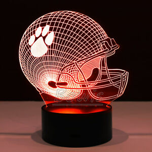 Clemson Tigers College Football Helmet Collectible Home Decor Light Lamp Gift
