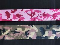 laverslace Camouflage Satin Sheer Ribbon 22/25mm Crafts Trim Cardmaking 2 METRES