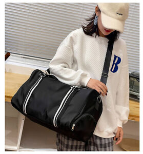 Women's Duffle Bags Travel Sports School Gym Carry On Luggage Shoulder Strap Bag