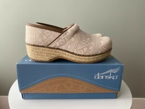 Dansko Women's Jute Pro Clogs, Ikat Canvas - Size 39 - With Box (WORN ONLY ONCE)