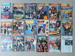Bundle of 18 Kerrang, Raw, Metal Hammer & Metal Forces magazines 1987 1988
