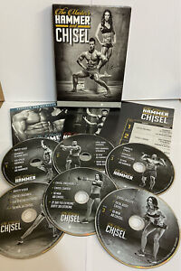 HAMMER AND CHISEL 6 DVD BOX SET EXERCISE STRENGTH MASTERS + 7PC PORTION POTS NEW