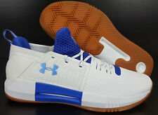 """UNDER ARMOUR """"UCLA BRUINS PE"""" DRIVE 4 LOW BASKETBALL SHOES WHITE RARE (SIZE 17)"""