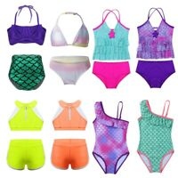 Princess Girls Kids Swimwear Bikini Tankini Swimsuit Swimming Bathing Costume
