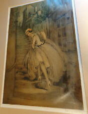 Louis Icart Tinted Etching Charm of Montmartre 1930s Signed and Stamped Original