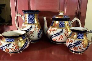Wiilliam Moorcroft James Macintyre Aurelian Tea Set c.1898 / Thomas Goode London